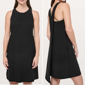 Lululemon Early Morning Dress Black Twisted Back